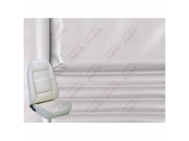 Upholstery Set Premium Rear Dlx Silver Leather Grain