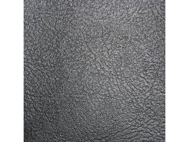 UPHOLSTERY SET, Front Bench, Std / Dlx, 50-50 split back w/ arm rest (incl arm rest material), Black, Madrid Grain Vinyl W/ Madrid Inserts