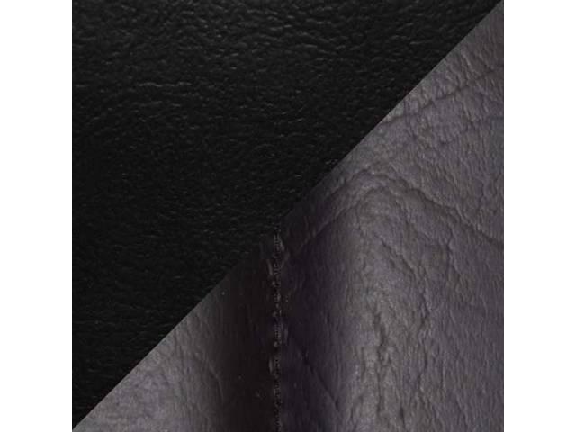 UPHOLSTERY SET, Front Buckets, Std, Black, Sierra Grain Vinyl W/ Elk Inserts