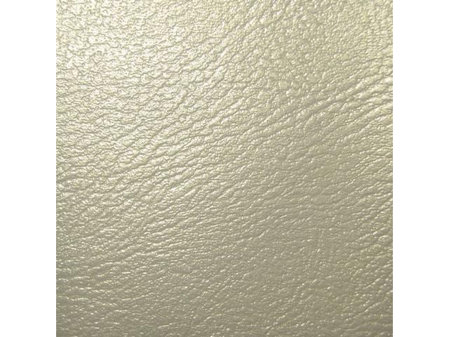 UPHOLSTERY SET, Front Bench, Std, 50-50 split back w/ arm rest (incl arm rest material), Parchment, Madrid Grain Vinyl W/ Madrid Inserts
