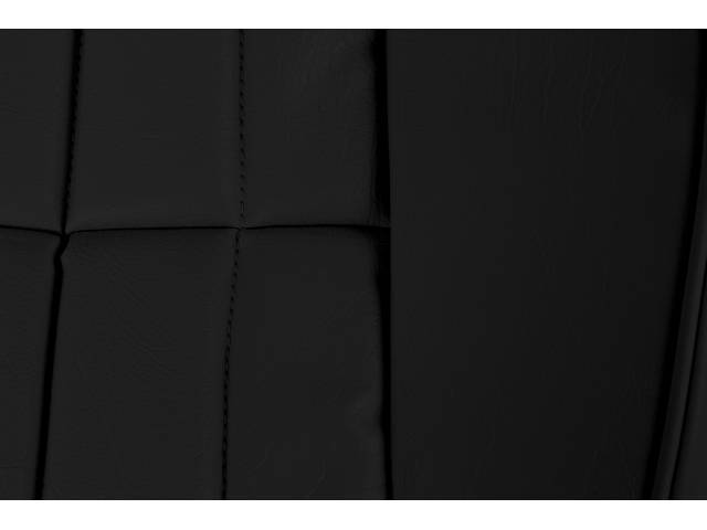 Upholstery Set Premium Front Buckets Std Black Sierra