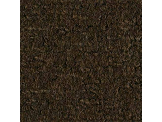 CARPET, Molded, Raylon (Loop Style), 2-piece, dark saddle