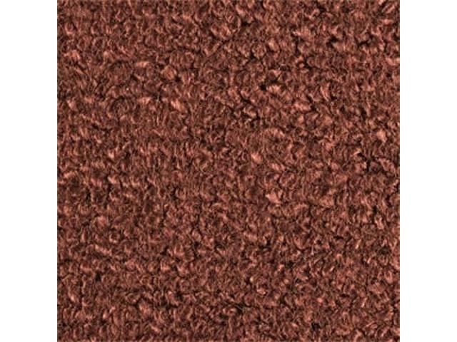 CARPET, Molded, Raylon (Loop Style), 2-piece, dark copper