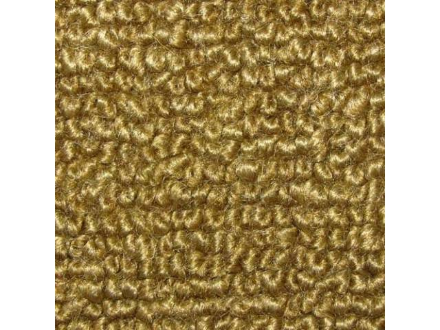 CARPET, Molded, Raylon (Loop Style), 2-piece, gold (actual
