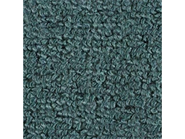 CARPET, Molded, Raylon (Loop Style), 2-piece, aqua (actual