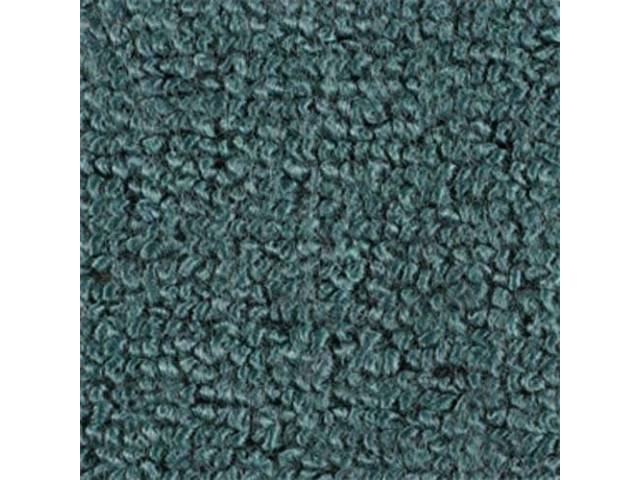 CARPET, Molded, Raylon (Loop Style), 2-piece, aqua (actual