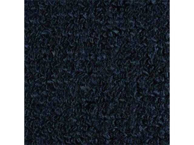 CARPET, Molded, Raylon (Loop Style), 2-piece, dark blue,