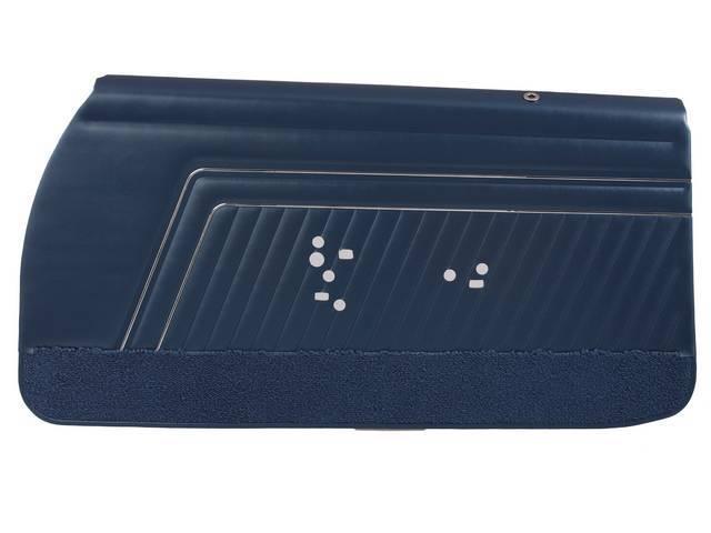 PANEL SET, Inside Door, Std, Dark Metallic Blue (actual color, GM called Blue or Dark Blue) w/ blue lower carpets, PUI, *Silver Edition*, madrid grain vinyl