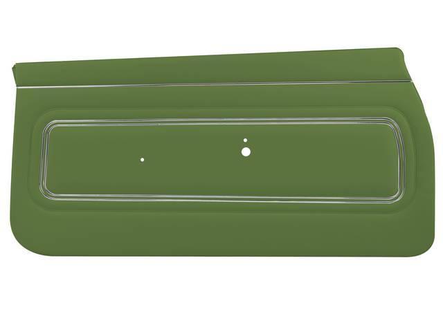 PANEL SET, Inside Door, Std, Jade Green (actual color, GM called Jade), PUI, *Silver Edition*, madrid grain vinyl