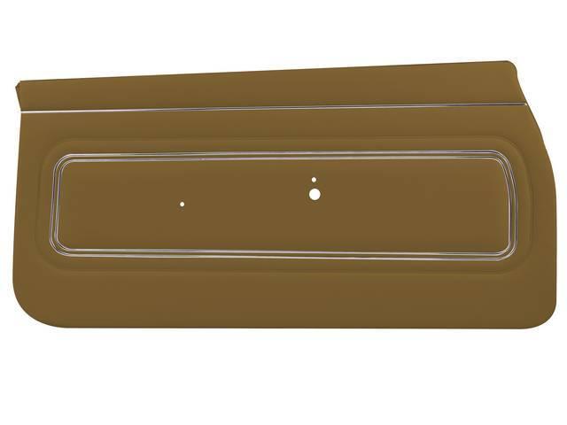 PANEL SET, Inside Door, Std, Dark Saddle (actual color, GM called Saddle), PUI, *Silver Edition*, madrid grain vinyl