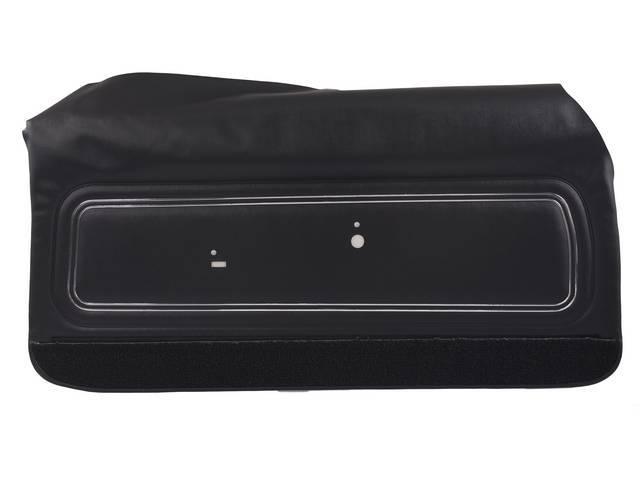 PANEL SET, Inside Door, Std, Black w/ black lower carpets, PUI, *Silver Edition*, madrid grain vinyl