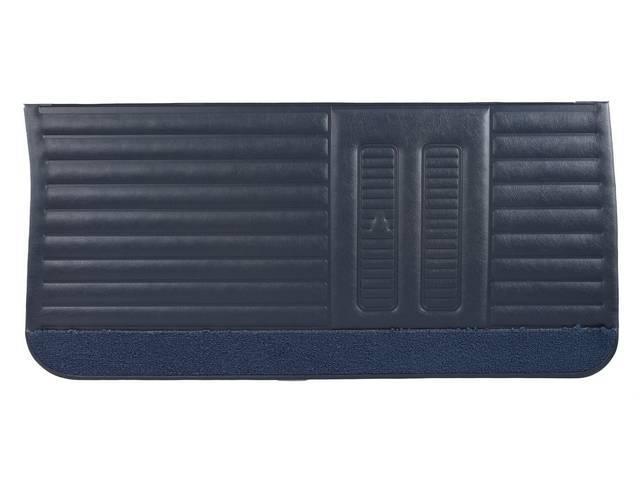 PANEL SET, Inside Door, Std, Dark Blue (actual color, GM called Blue or Dark Blue) w/ blue lower carpets, PUI, *Silver Edition*, seville grain vinyl