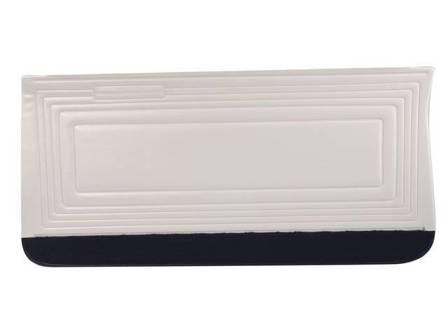PANEL SET, Inside Door, Std, Parchment w/ black lower carpets, PUI, *Silver Edition*, madrid grain vinyl