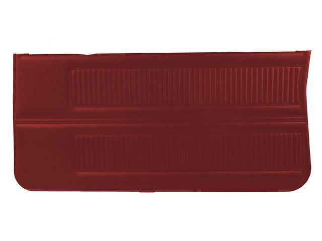 PANEL SET, Inside Door, Std, Red (actual color,