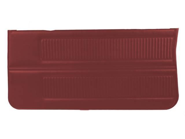 PANEL SET, Inside Door, Std, Metallic Red (actual color, GM called Red or Medium Red), PUI, *Silver Edition*, madrid grain vinyl
