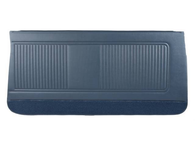 PANEL SET, Inside Door, Std, Dark Blue (actual color, GM called Blue or Dark Blue) w/ blue lower carpets, PUI, *Silver Edition*, madrid grain vinyl