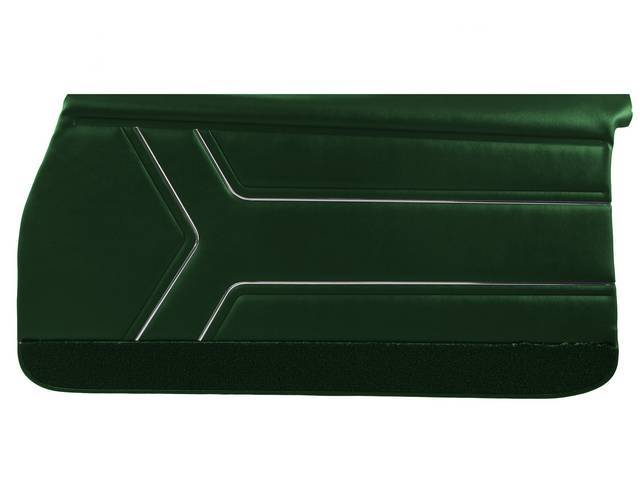 PANEL SET, Inside Door, Std, Dark Metallic Green (actual color, GM called Green or Midnight Green) w/ green lower carpets, PUI, *Silver Edition*