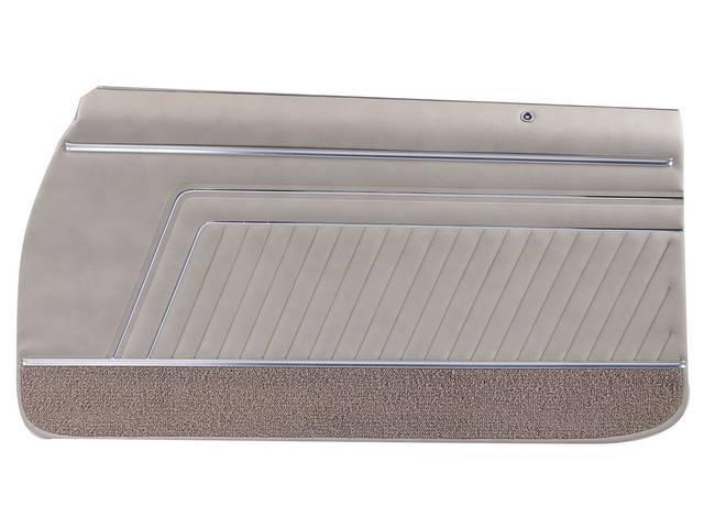 PANEL SET, Inside Door, Pre-Assembled, Std, Sandalwood (actual color, GM called Sandalwood or Medium Sandalwood) w/ sandalwood lower carpets, PUI, *Silver Edition*