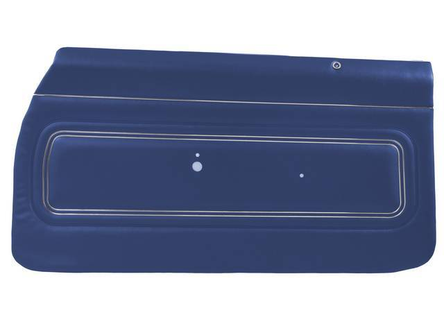 PANEL SET, Inside Door, Pre-Assembled, Std, Dark Blue (actual color, GM called Blue), PUI, *Silver Edition*, madrid grain vinyl