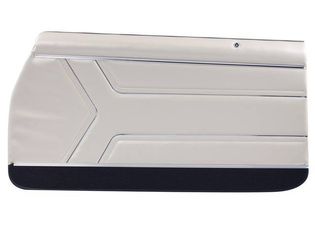 PANEL SET, Inside Door, Pre-Assembled, Std, Parchment w/ black lower carpets, PUI, *Silver Edition*, madrid grain vinyl