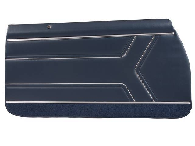 PANEL SET, Inside Door, Pre-Assembled, Std, Dark Metallic Blue (actual color, GM called Blue or Dark Blue) w/ blue lower carpets, PUI, *Silver Edition*