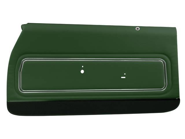 PANEL SET, Premium, Inside Door, Pre-Assembled, Std, Green w/ green lower carpets, Legendary, madrid grain vinyl, ** Made to order, Allow 4-8 weeks for delivery **