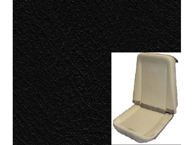 UPHOLSTERY AND FOAM SET, Premium, Rallye Seat Buckets, black, Legendary, madrid grain vinyl
