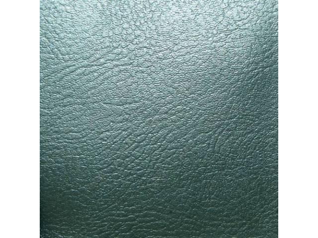 UPHOLSTERY SET, Rear Seat, Dark Aqua (actual color, GM called Turquoise or Dark Turquoise), PUI, madrid grain vinyl w/ embossed *Arrowhead*