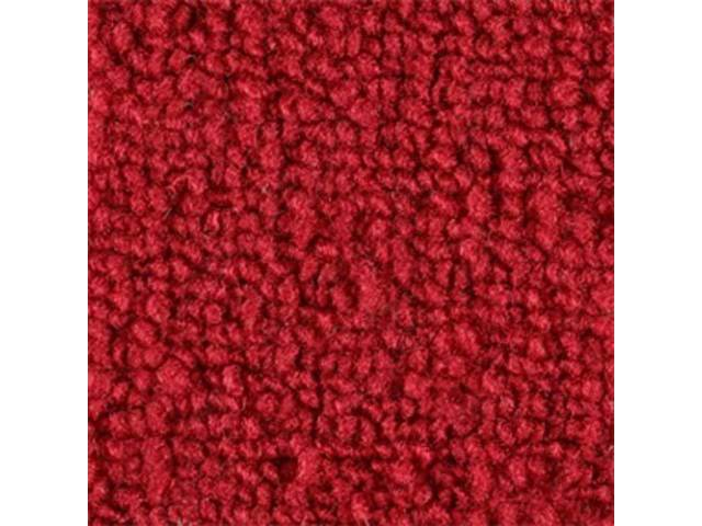 CARPET, Molded, Raylon (Loop Style), 2-piece, Bright Red,