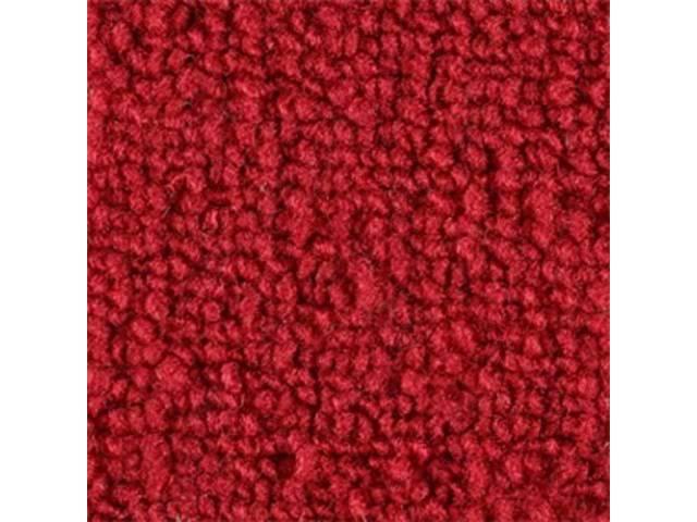 Molded Carpet Set, Raylon Loop, 2-piece, Bright Red, M/T