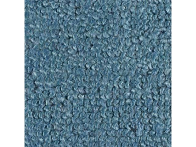 Carpet Raylon Loop Style Two Piece Light Blue