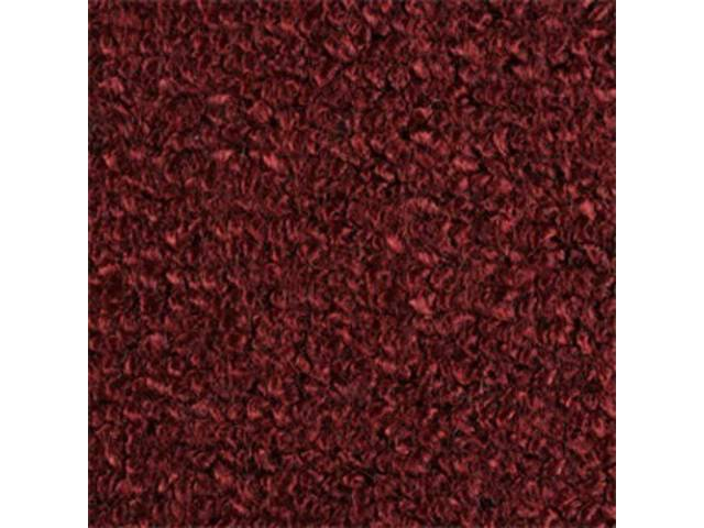 CARPET, Molded, Raylon (Loop Style), 2-piece, Maroon, A/T, will req final trimming to fit, repro   ** See CH-CA-2-C for bright red color **