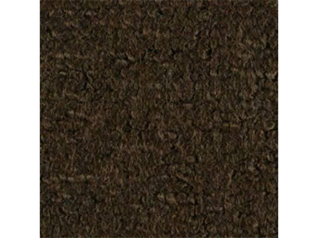 Carpet Raylon Loop Style Two Piece Dark Saddle