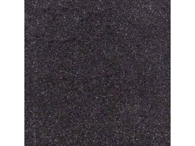 CARPET, Molded, Cut Pile, 2-piece, Black