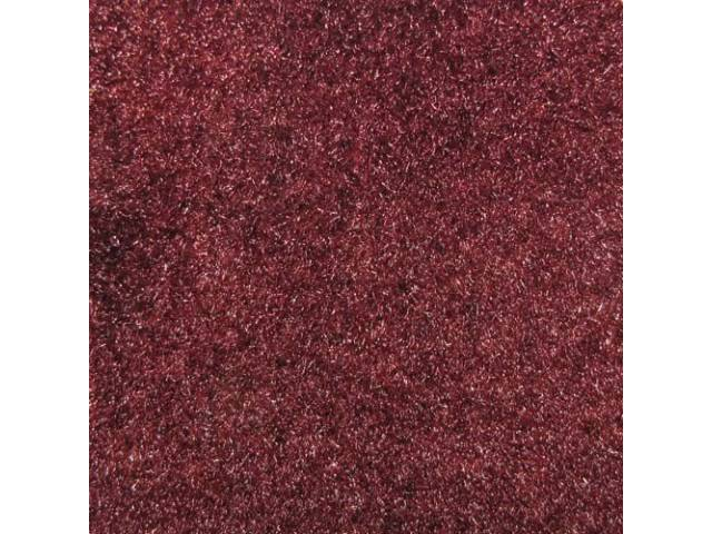 Carpet Cut Pile Two Piece Oxblood Dark Red