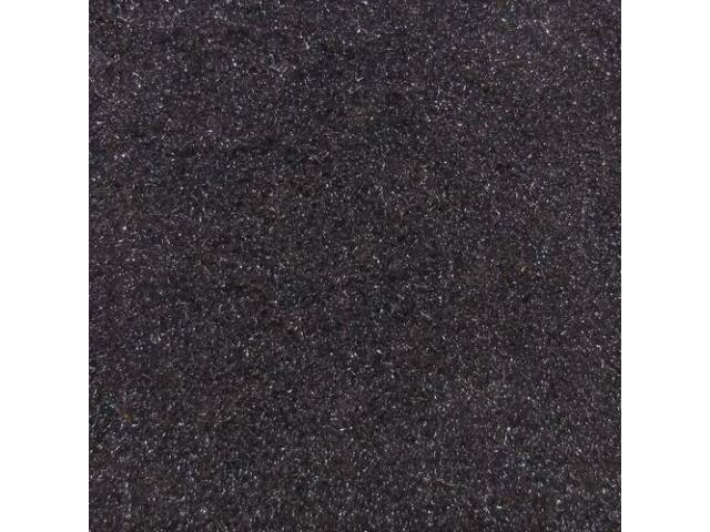 Carpet Cut Pile One Piece Black