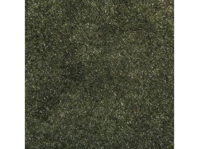 Carpet Cut Pile One Piece Green
