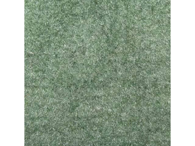 CARPET, Molded, Cut Pile, 1-piece, Sage Green (Light