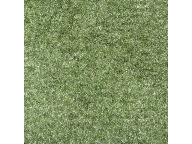 CARPET, Molded, Cut Pile, 1-piece, Willow Green (Darker