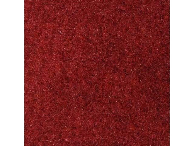 CARPET, Molded, Cut Pile, 1-piece, Oxblood (Darkest Red)