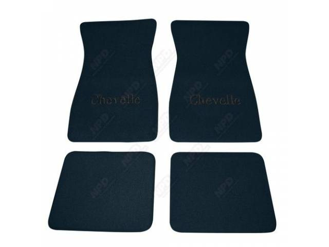 Floor Mats Carpet Raylon Loop Style Dark Blue