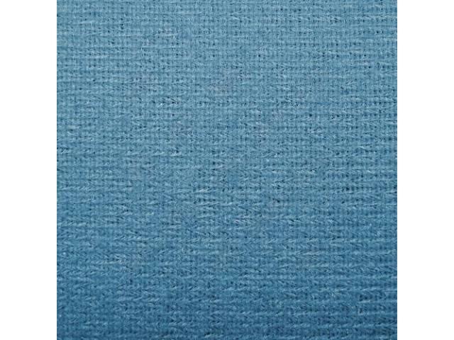 Headliner Cloth W/ Foam Backing Light Blue Repro