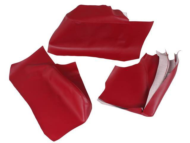 ARM REST COVER SET, Premium, Inside Quarter, Red,