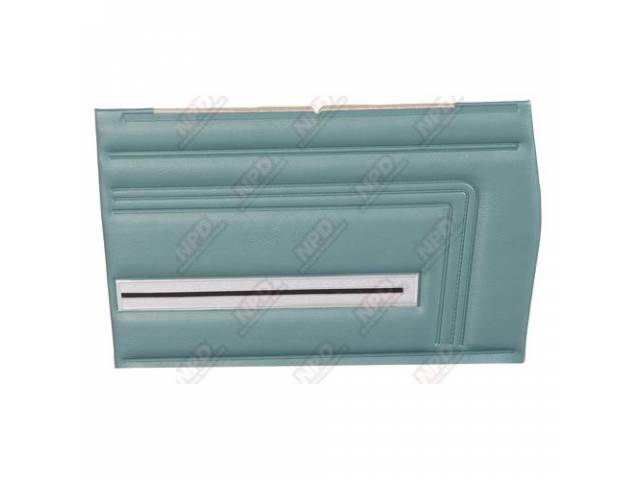 Panel Set Premium Inside Quarter Light Metallic Turquoise