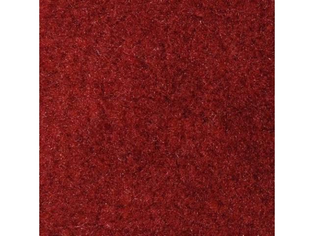 Carpet Storage Area Oxblood Darkest Red Molded To