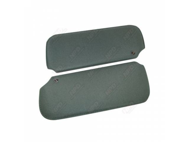Sunvisor Set Medium Sage Green Cloth Repro
