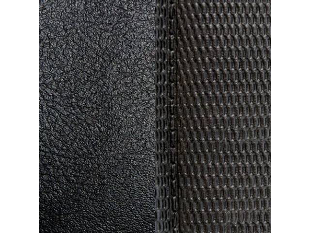 Upholstery Set Premium Front Buckets Black Madrid Grain