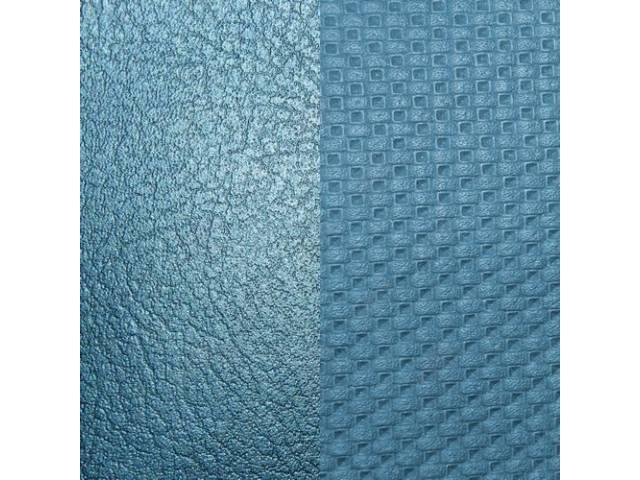 Upholstery Set, Premium, Front Buckets, Metallic Blue (Std