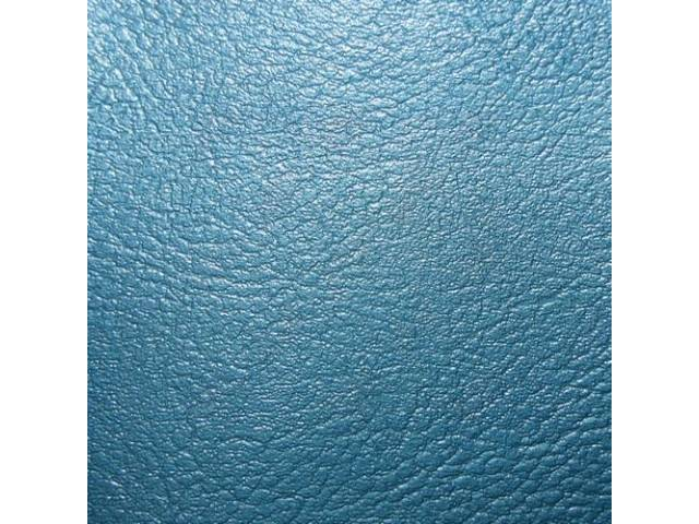 Upholstery Set, Rear Seat, Bright Blue, madrid grain vinyl