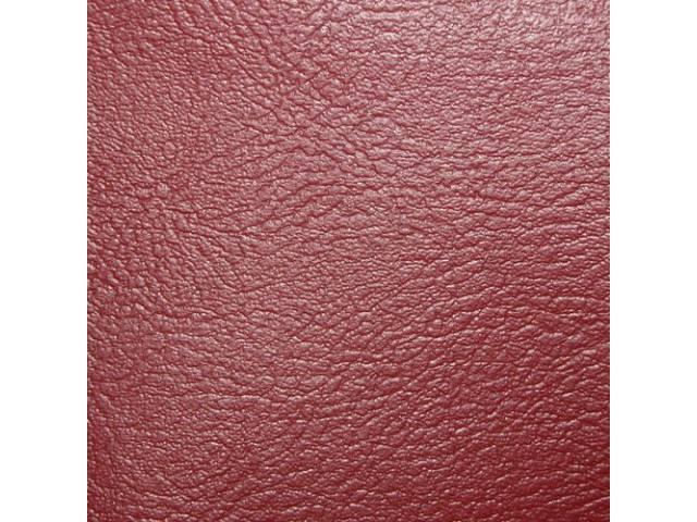 Upholstery Set, Premium, Rear Seat, Red, madrid grain